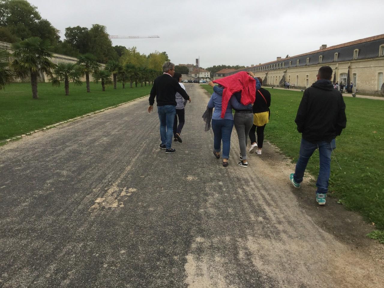 balade à Rochefort sous la pluie