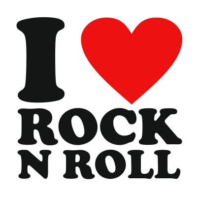I love rock n roll clipart